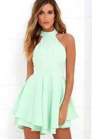 green dress mint green dress skater dress backless dress 59 00