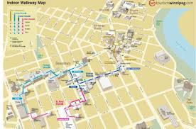 Manitoba Canada Map by Winnipeg Skywalk Map Map Of Winnipeg Skywalk Manitoba Canada