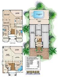 Coastal House Floor Plans | mediterranean house plan coastal narrow lot beach home floor plan