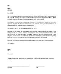 termination letter sample 7 free documents in word pdf