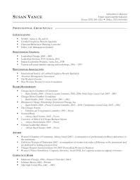 successful resume exles certifications on a resume foodcity me
