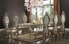 homey design hd 13012 royal palace dining set in champagne usa