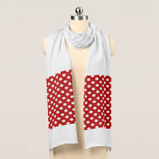 white dots on red scarves zazzle