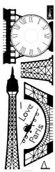 luminous eiffel tower fluorescent luminous sticker home decoration