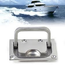 marine cabinet hardware pulls beler new silver 316 stainless steel boat marine flush hatch locker