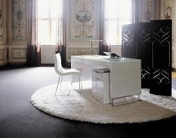 White Home Office Desks Office Desks Made Of Solid Surface Artificial Tell World