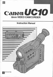 canon camcorder uc 10 user guide manualsonline com