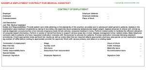 medical assistant employment contracts