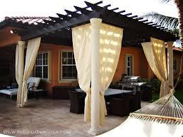 Pergola With Curtains Stunning Traditional Pergola With Sunbrella Curtains Florida Image
