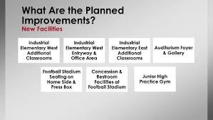 gpisd 2015 bond program new gyms football fieldhouse industrial isd 2016 capital improvements program ppt download