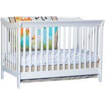 baby mod modena 3 in 1 fixed side convertible crib white don