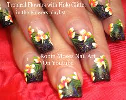 tropical flower nails 35 tropical nail art designs for summer