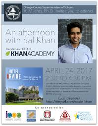 presentation featuring khan academy founder to focus on access to