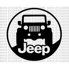 jeep decals jeep stickers for mahindra thar available in custom colors and sizes