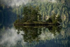 Oregon forest images Oregon lake forest island mountains reflection volcano smart jpg