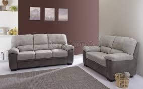 ensemble canapé ensemble canapé 3 2 en tissus coloris gris clair et gris foncé mael