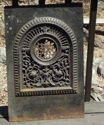 vintage cast iron fireplace grate heat register vent ornate