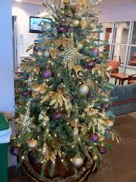 Purple Gold Christmas Decorations Christmas Tree Decorated With Purple And Gold Grapevine Christmas