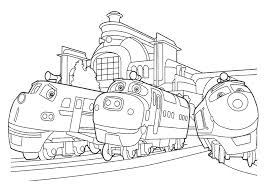 train color pages chuggington coloring pages