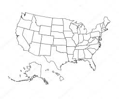 Vector Usa Map by Usa Map Vector Illustration U2014 Stock Vector Chekman1 108219612