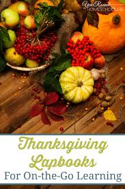 thanksgiving lapbooks for on the go learning year