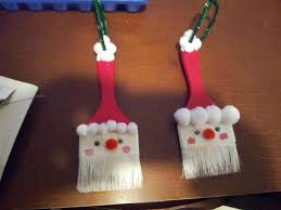 paintbrush santa ornaments art in classroom pinterest santa