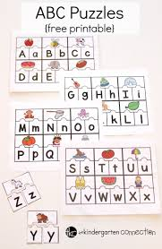 printable abc puzzles for pre k and kindergarten