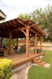 Lattice Pergola Roof by Outdoor Beautiful Bamboo Patio With Half Wall Fencing Aesthetic
