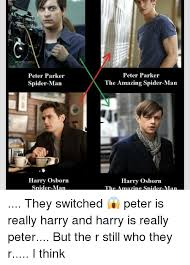 The Amazing Spiderman Memes - peter parker spider man harry osborn spider man peter parker the