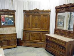 Marble Top Dresser Bedroom Set Antique Burl Walnut Bed Marble Top Dresser U0026 Washstand For Sale