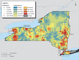 New York Map Rochester by Infrastructure Planning For Solar Technology Recycling