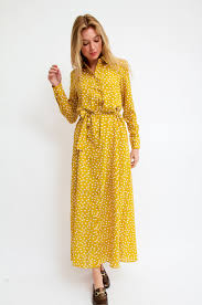 selected femme 16063411 sfchanie dress yellow selected femme