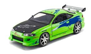 fast and furious cars jada fast and furious brian u0027s mitsubishi eclipse 1 24 green