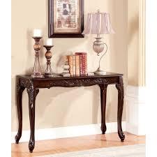 furniture of america mariefey classic cherry finish sofa table