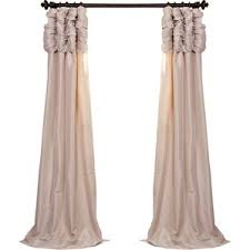 White Taffeta Curtains 120