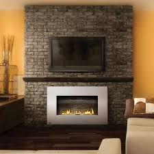 Gas Logs For Fireplace Ventless - modern ventless gas fireplaces with stone wall jpg 800 800