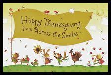 animals thanksgiving greeting cards ebay