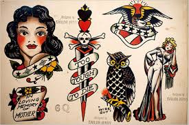 sailor jerry ship eagle and mermaid tattoo designs