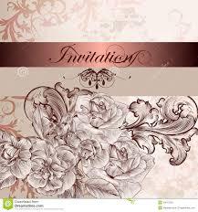 Design Wedding Invitation Cards Wedding Invitation Card With Flowers For Design Stock Photos