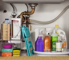 Cleaning Kitchen Sink by Easy Under The Sink Storage Ideas Organizing Cleaning Supplies