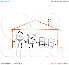 Their Home by Royalty Free Rf Clipart Illustration Of A Stick People Character