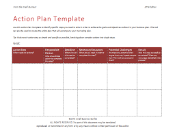 action plan template an easy way to plan actions