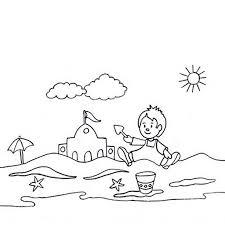coloriage enfant à la plage a imprimer gratuit