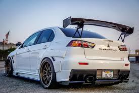white mitsubishi sports car ag mitsu u0027s evolution 8 9 x garage