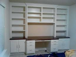 Diy Built In Desk Built In Office Desk And Cabinets Custom Cabinet Houston The