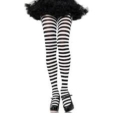 striped tights black and white pantyhose dr seuss costume pirate