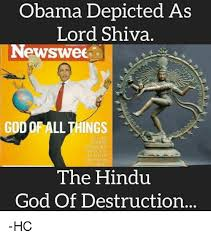 God Memes - obama depicted as lord shiva newswee god of ll things whay