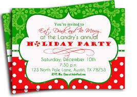 samples of christmas party invitations invitation card for