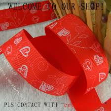 printed ribbon wholesale wholesale printed ribbon 1 25mm tree heart bright celebrate