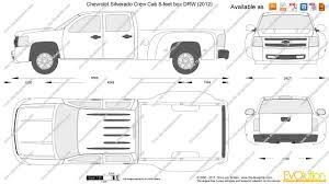 2000 Chevy Silverado Truck Bed - the blueprints com vector drawing chevrolet silverado crew cab